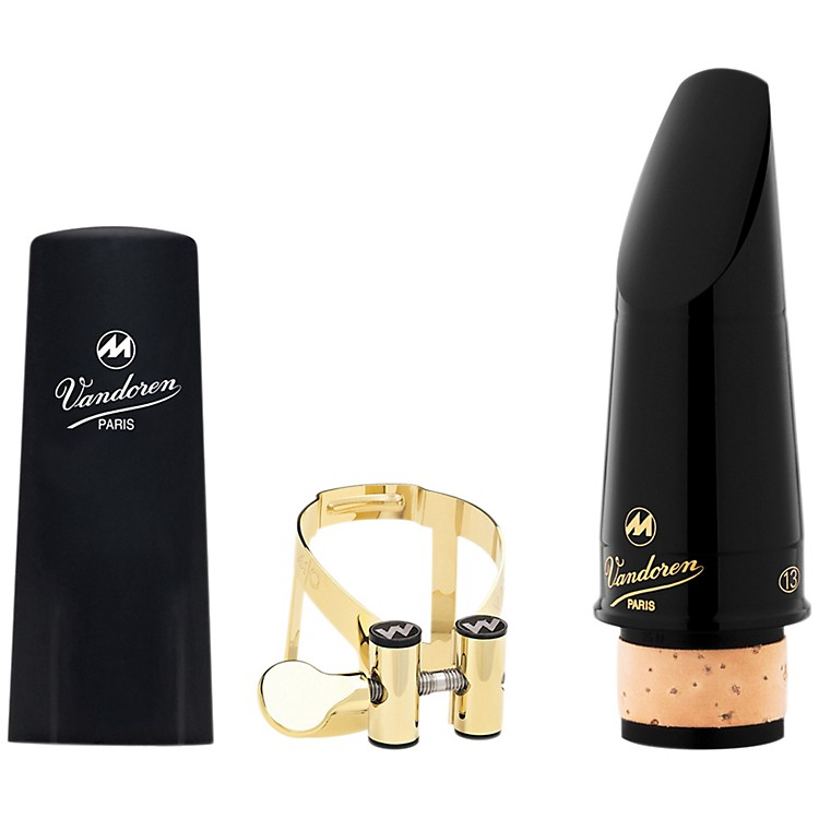 Vandoren Masters 13 Series Bb Clarinet Mouthpiece CL6 Facing M/O 24K Gold Ligature