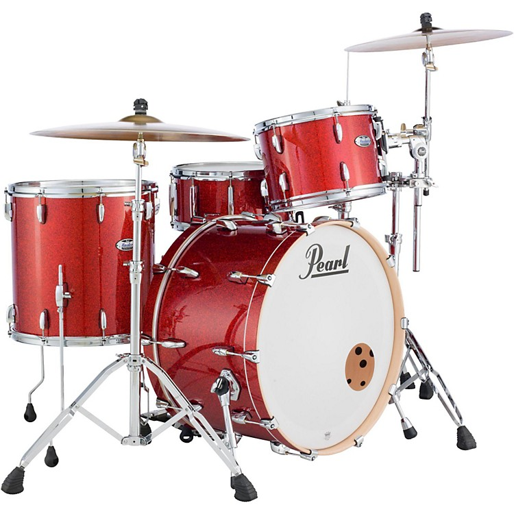 Pearl Masters Maple 3-Piece Shell Pack Vermillion Sparkle