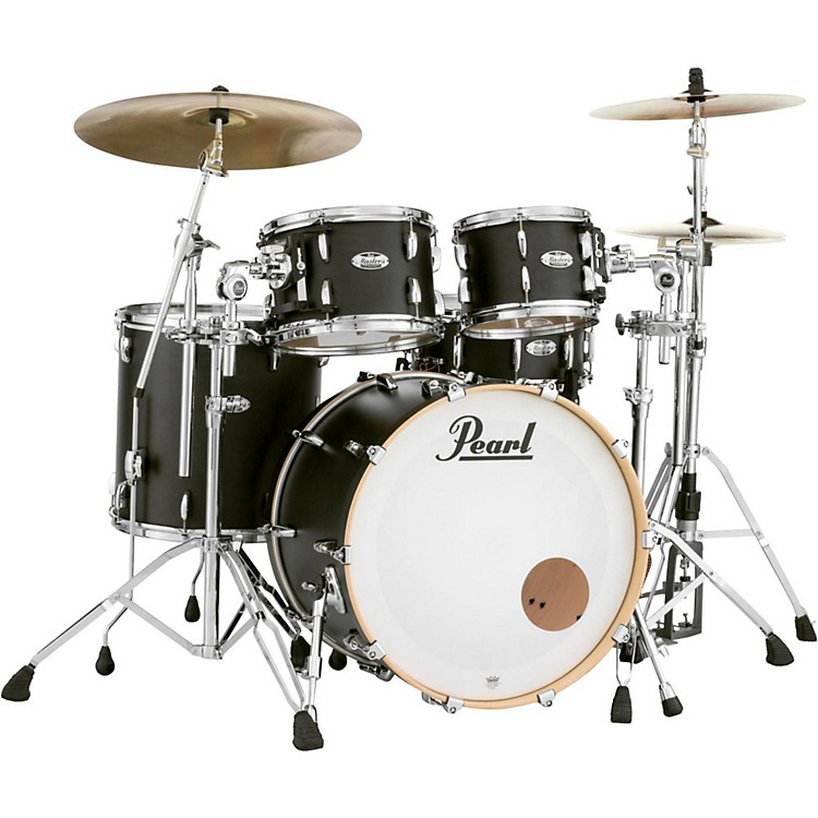 PearlMasters Maple 4-Piece Shell PackMatte Black Mist