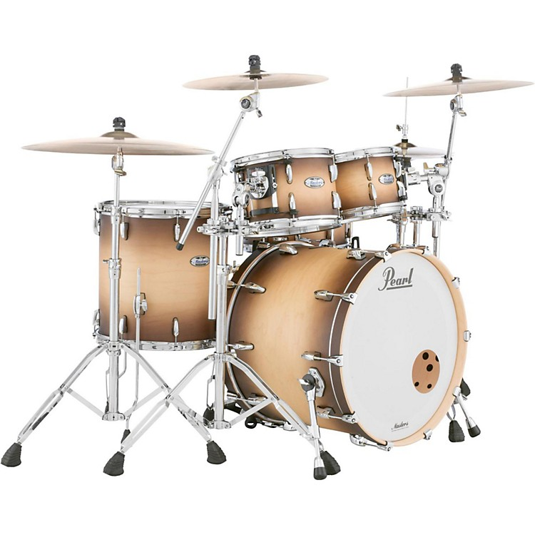 Pearl Masters Maple 4-Piece Shell Pack Satin Natural Burst