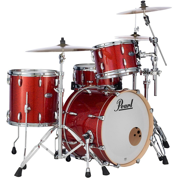 Pearl Masters Maple Complete 3-Piece Shell Pack Vermillion Sparkle