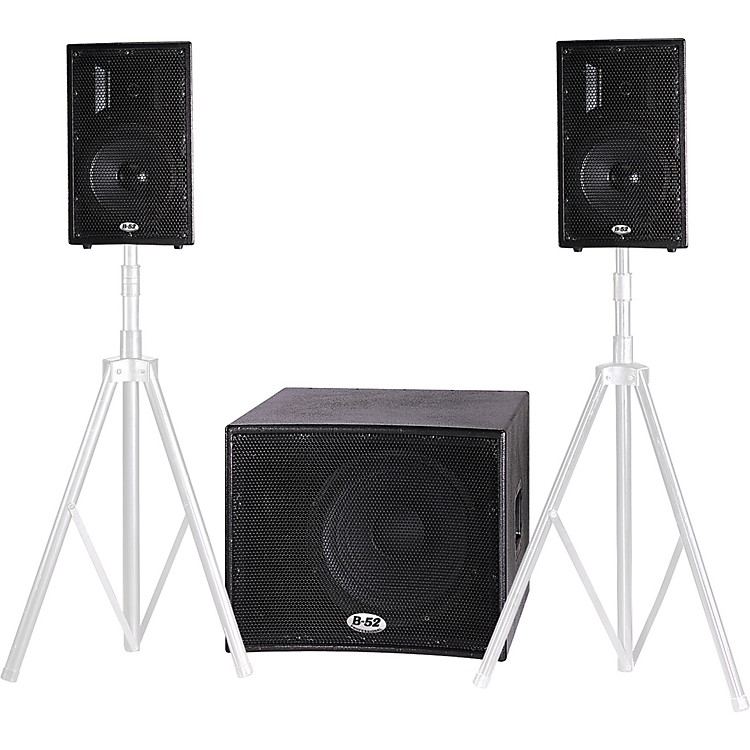 B-52 Matrix-1000 V2 700W Active 3-Piece Speaker System