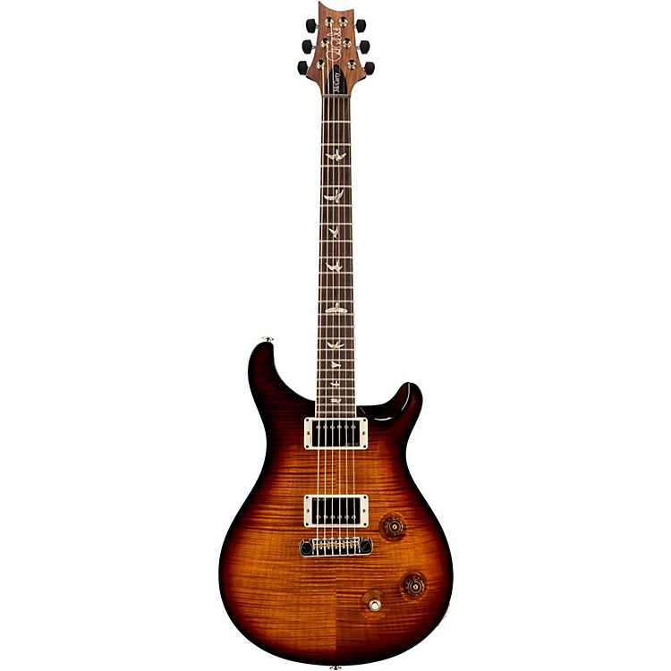 PRSMcCarty Carved Flame Maple 10 Top with Nickel Hardware Solidbody Electric GuitarBlack Gold Wrap Burst