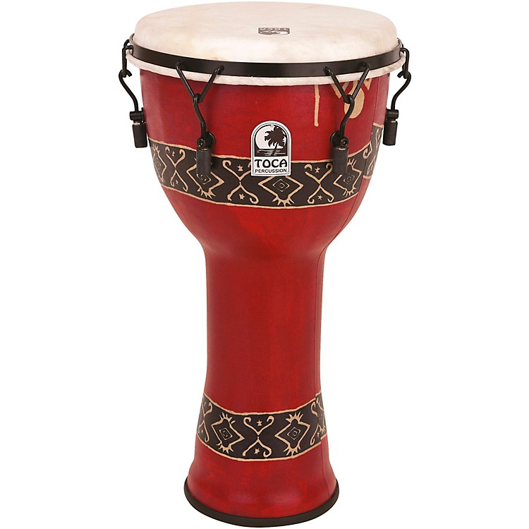 TocaMechanically Tuned Djembe with Extended Rim12 in.Bali Red