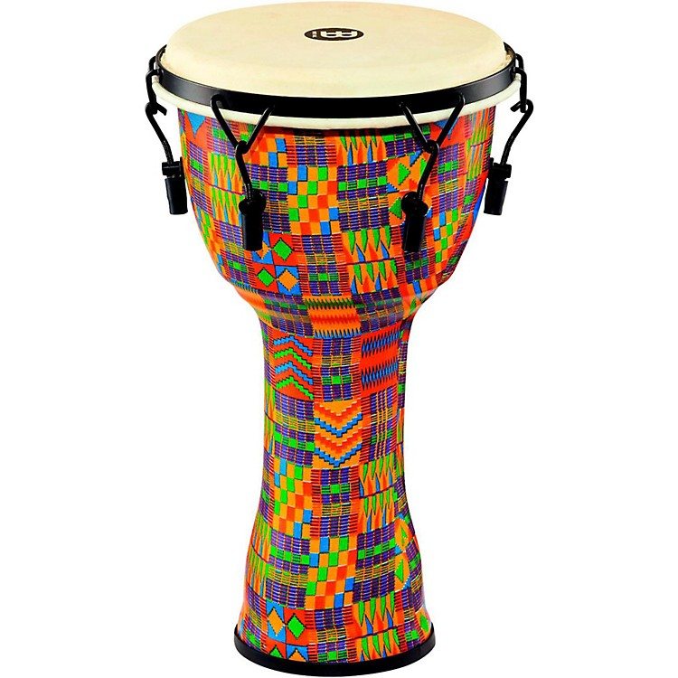 MeinlMechanically Tuned Djembe with Synthetic Shell and Goat Skin Head10 in.Kenyan Quilt