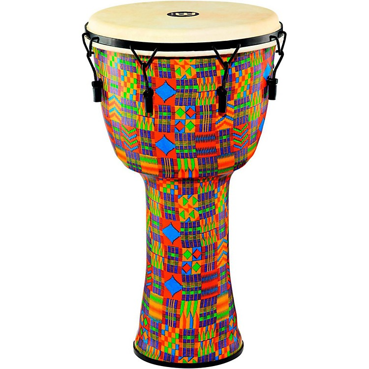 Meinl Mechanically Tuned Djembe with Synthetic Shell and Goat Skin Head 14 in. Kenyan Quilt