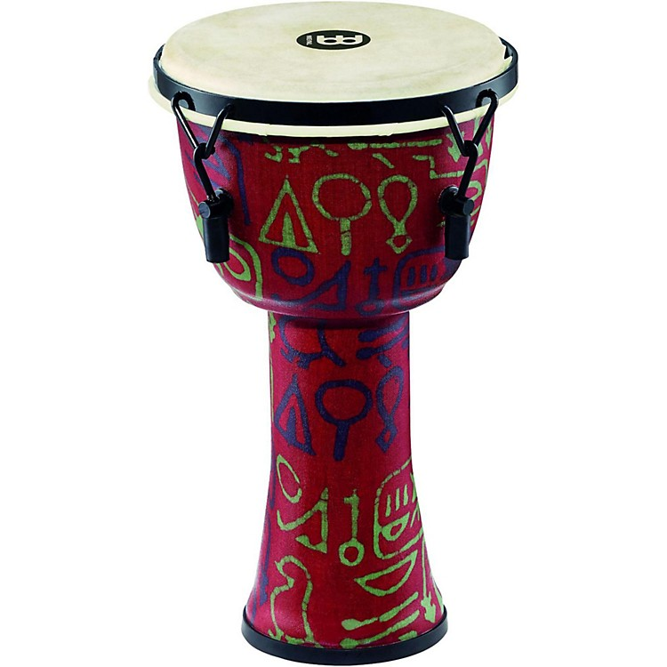 Meinl Mechanically Tuned Djembe with Synthetic Shell and Goat Skin Head 8 in. Pharaoh's Script