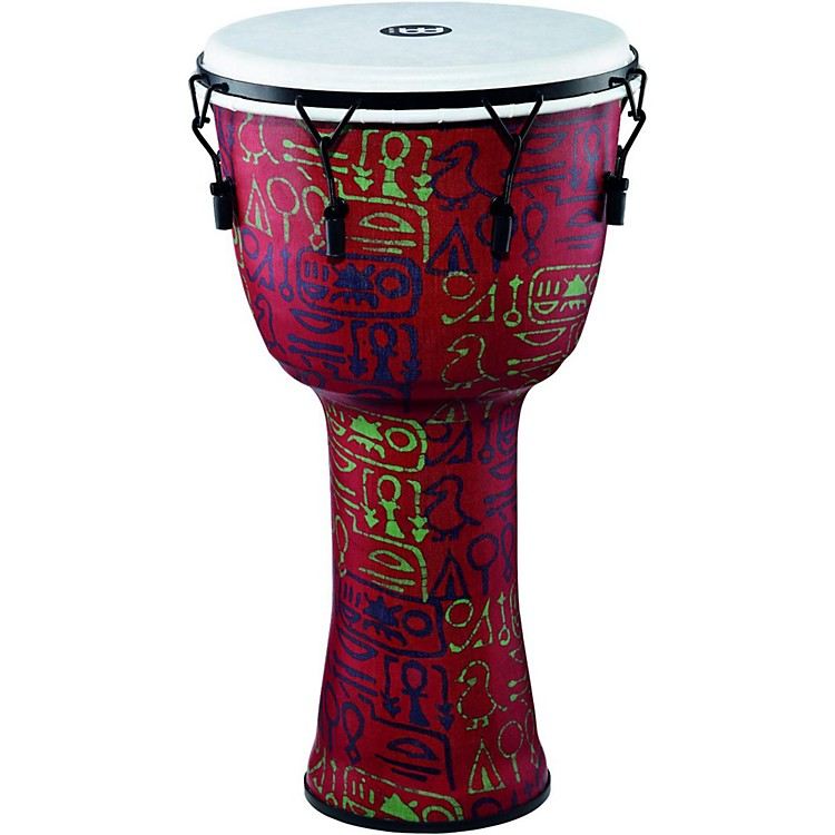 Meinl Mechanically Tuned Djembe with Synthetic Shell and Head 14 in. Pharaoh's Script