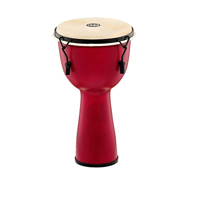Meinl Mechanically Tuned Fiberglass Goatskin Head Djembe Crimson Red 10 in.