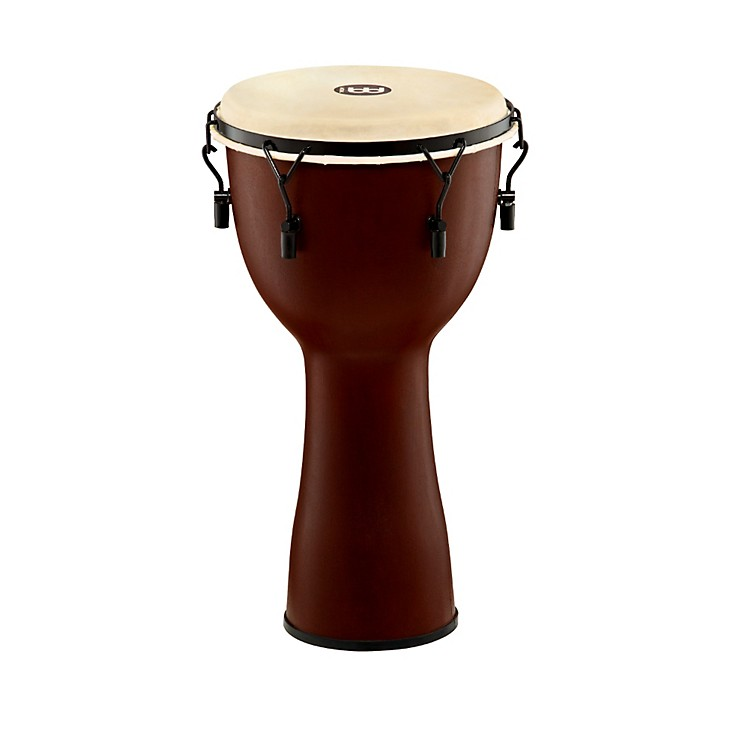 Meinl Mechanically Tuned Fiberglass Goatskin Head Djembe Earth Brown 12 in.