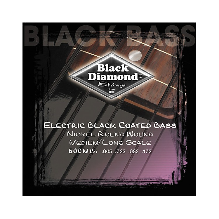 Black Diamond Medium Gauge Black Coated Roundwound Long Scale Bass Strings