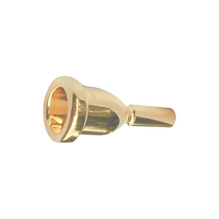 Bach Mega Tone Large Shank Trombone Mouthpiece in Gold