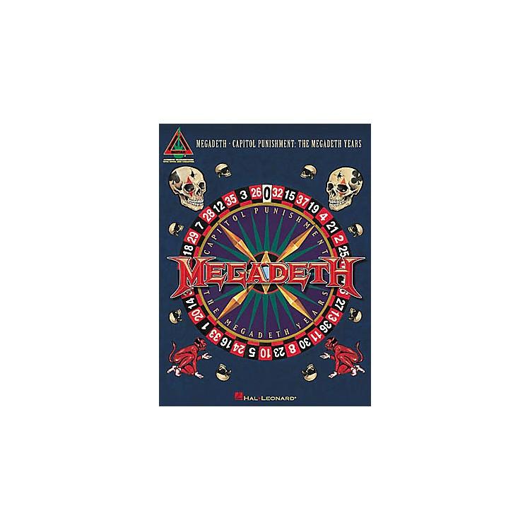 Hal LeonardMegadeth - Capitol Punishment The Megadeth Years Guitar Tab Book