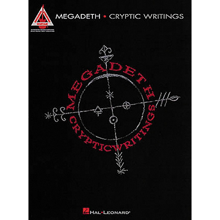 Hal Leonard Megadeth Cryptic Writings Guitar Tab Songbook