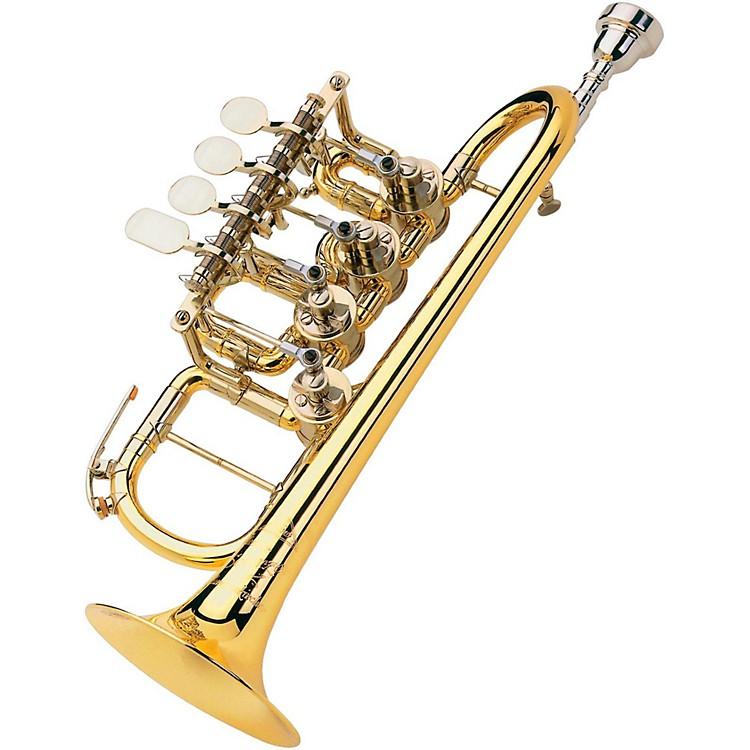ScherzerMeister Johannes Rotary Valve Piccolo Trumpet8111 - Gold Brass, Lacquer