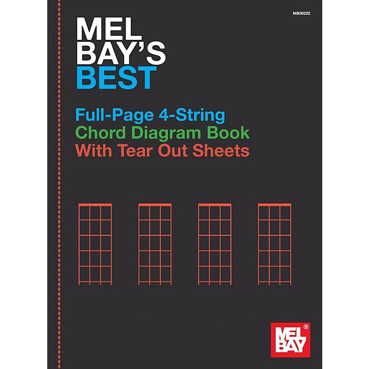 Mel BayMel Bay's Best Full-Page 4-String Chord Diagram Book