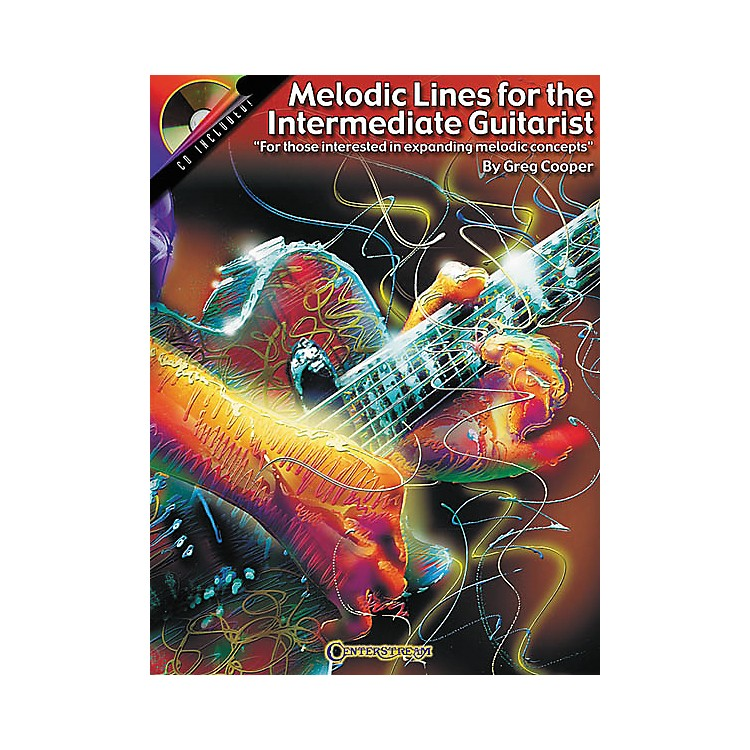 Centerstream Publishing Melodic Lines for the Intermediate Guitarist (Book/CD)