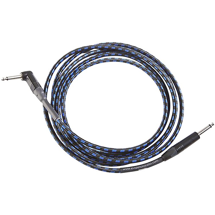 Evidence Audio Melody Instrument Cable w/ Right-Angle/Straight Connectors 20 ft.