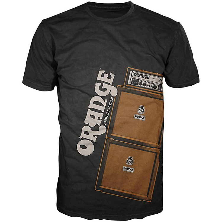 Orange Amplifiers Men's Stack T-Shirt Black Large