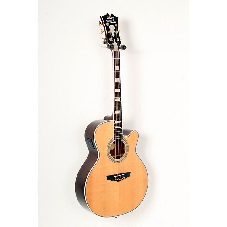 D'Angelico Mercer Grand Auditorium Cutaway Acoustic-Electric Guitar Natural 888365823386