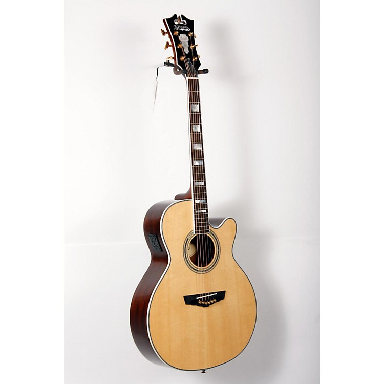 D'Angelico Mercer Grand Auditorium Cutaway Acoustic-Electric Guitar Natural 888365823812