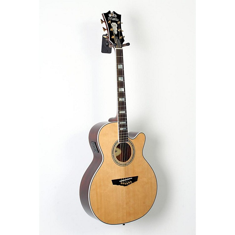 D'Angelico Mercer Grand Auditorium Cutaway Acoustic-Electric Guitar Natural 888365851204