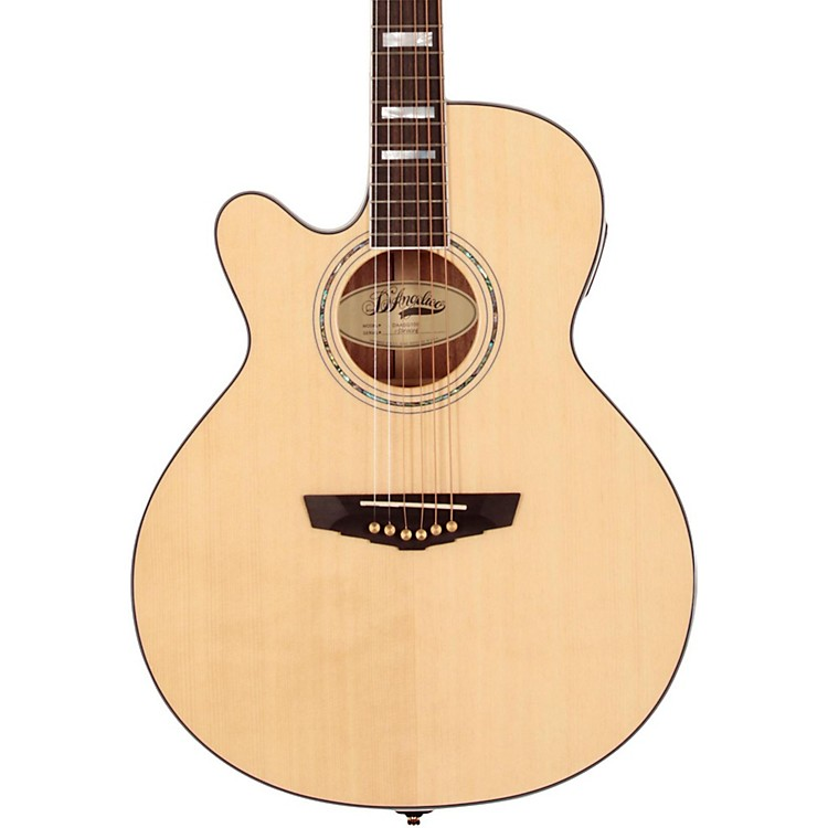 D'Angelico Mercer Grand Auditorium Cutaway Left-Handed Acoustic-Electric Guitar Natural