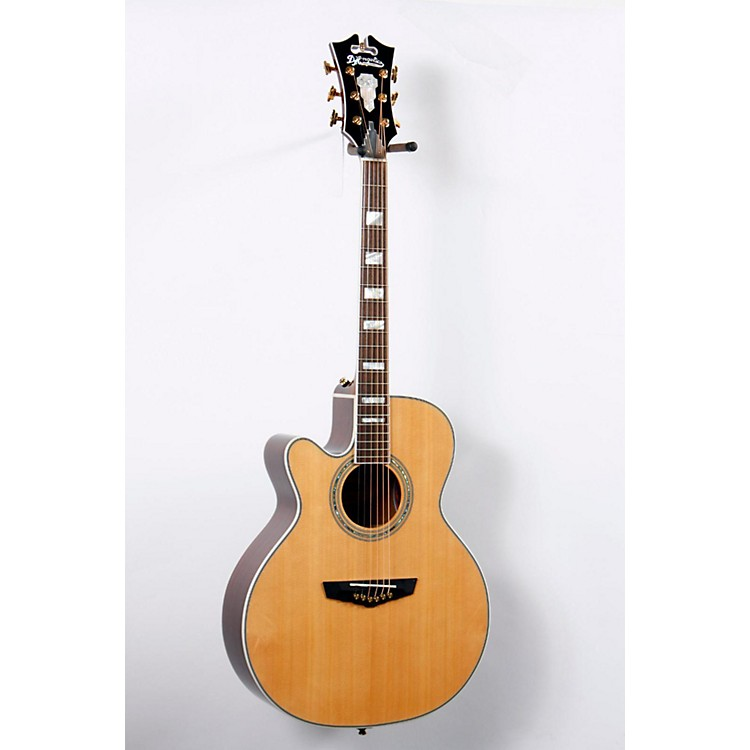 D'Angelico Mercer Grand Auditorium Cutaway Left-Handed Acoustic-Electric Guitar Natural 888365689081