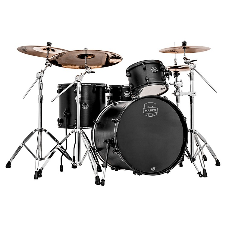 Mapex Meridian Black Raven 4-Piece Shell Pack Black
