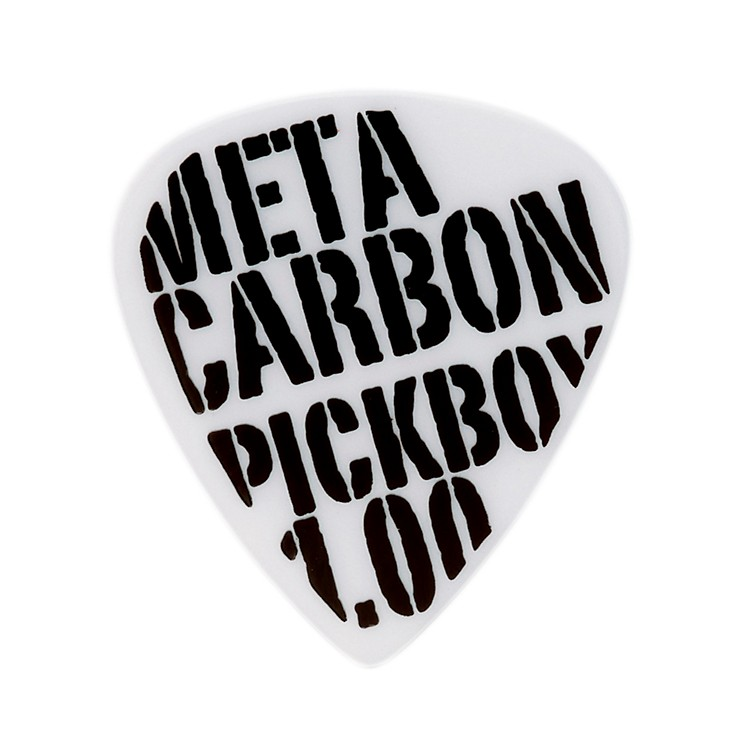 Pick Boy Meta Carbonate White Guitar Picks (10-pack) 1.00MM