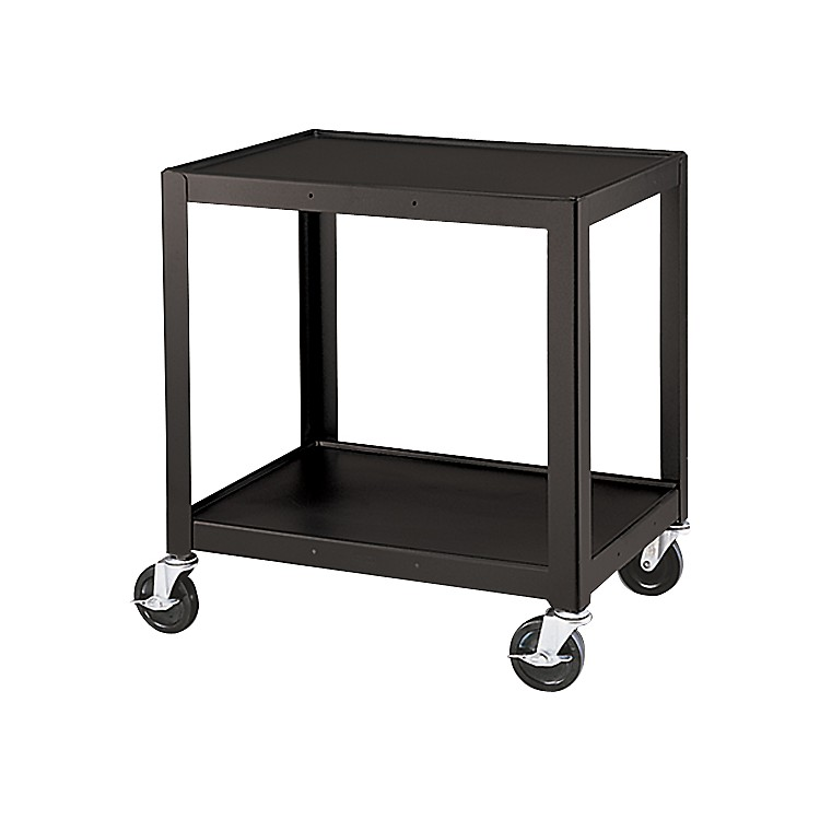 H Wilson Metal 26 Quot 2 Shelf Cart Black Music123