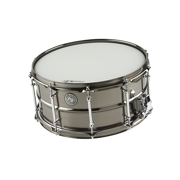 Taye Drums MetalWorks Brass Snare Drum with Vintage Style Tube Lugs Black Nickel 14x6.5