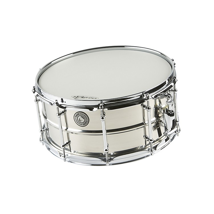 Taye Drums MetalWorks Stainless Steel Snare Drum with Vintage Style Tube Lugs  14x6.5