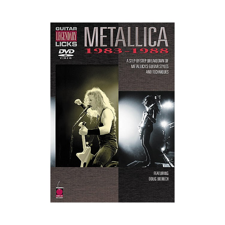 Cherry Lane Metallica - Guitar Legendary Licks 1983-1988 (DVD)