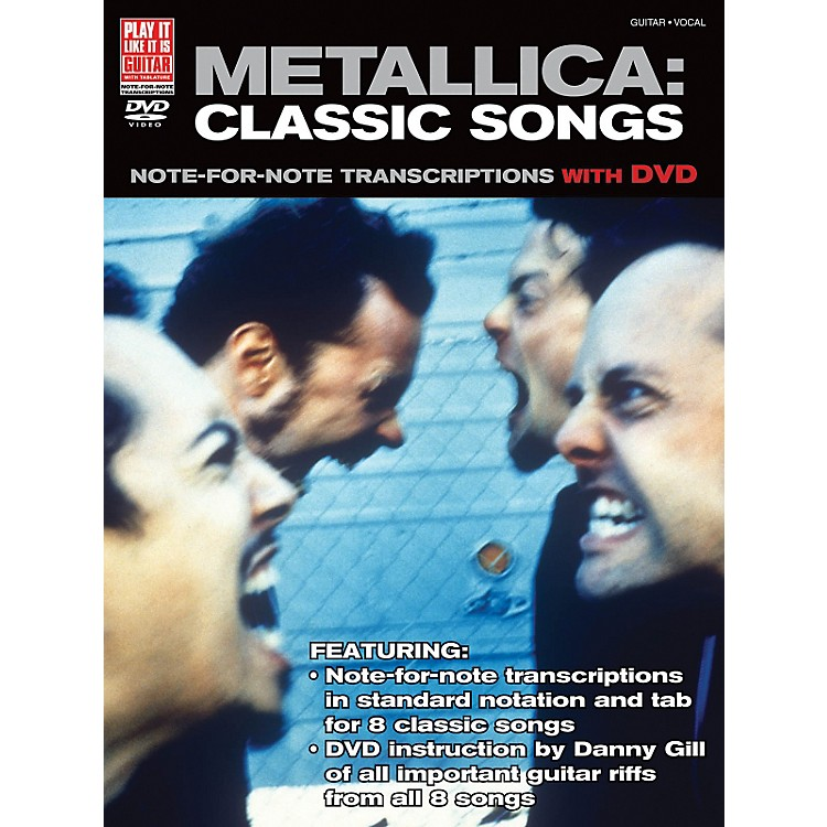 Cherry LaneMetallica Classic Songs For Guitar - Note For Note Transcriptions with DVD