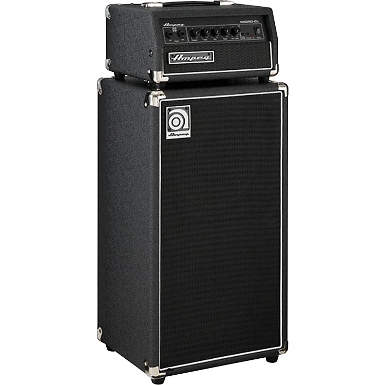 Ampeg Micro-CL 100W 2x10 Mini Bass Stack Black Black