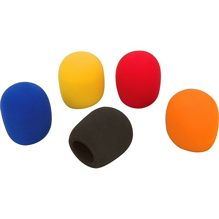 Tour Grade Microphone Windscreen 5-Pack Assorted Colors