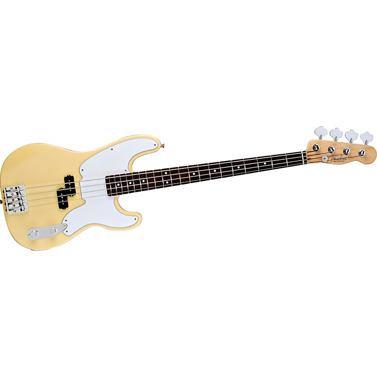 Fender Mike Dirnt Precision Bass Vintage White Rosewood Fretboard
