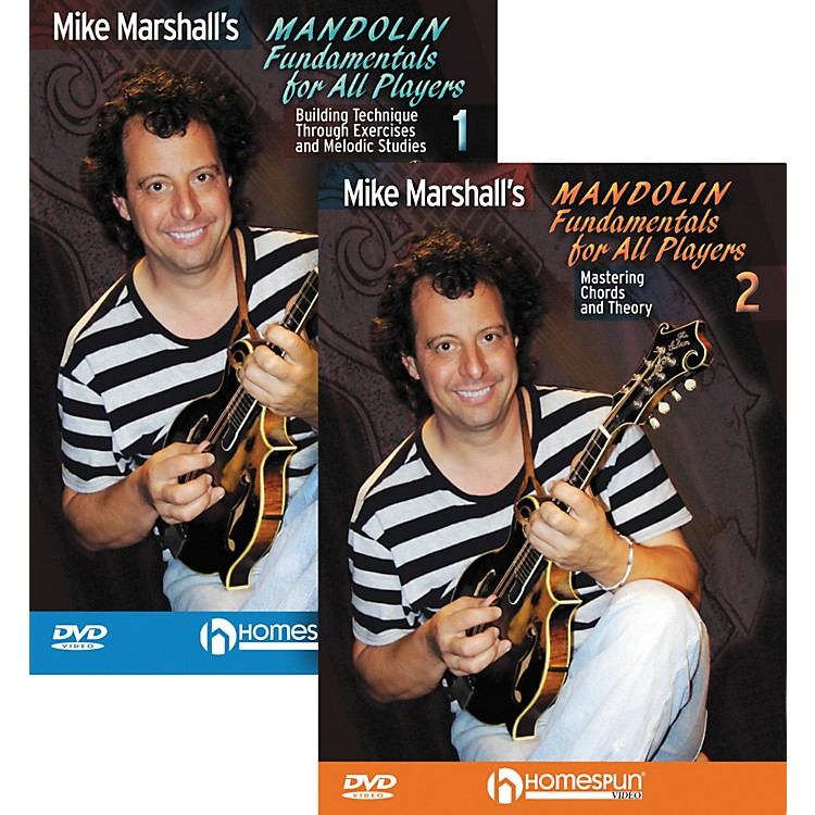 Homespun Mike Marshall's Mandolin Fundamentals for All Players (DVD) 1&2