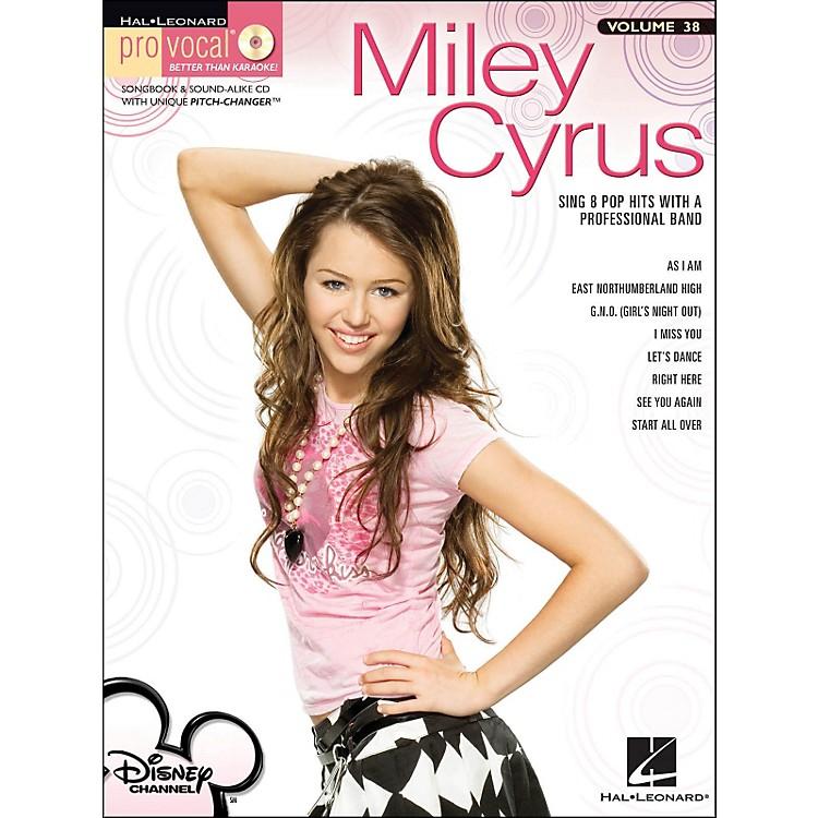Hal LeonardMiley Cyrus - Pro Vocal Series for Female Singers Volume 38 Book/CD