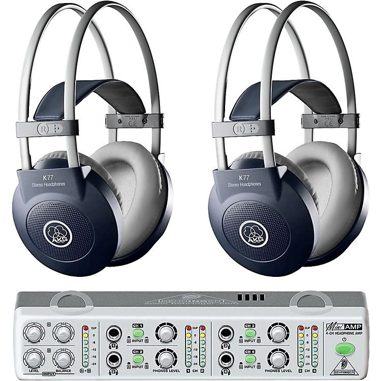 AKGMiniAMP/K77 Headphone Two Pack