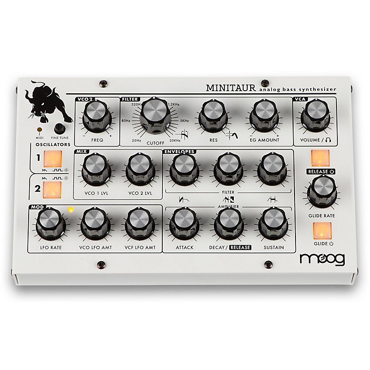 Moog Minitaur Bass Synthesizer with Custom White Finish