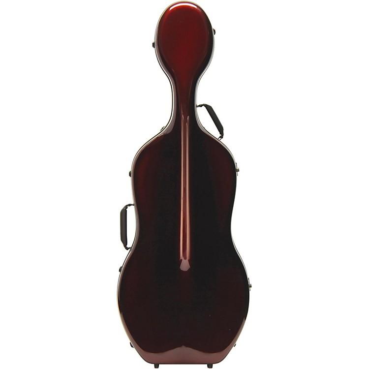 Otto MusicaMirage Series Carbon Hybrid Cello Case4/4 Burgundy