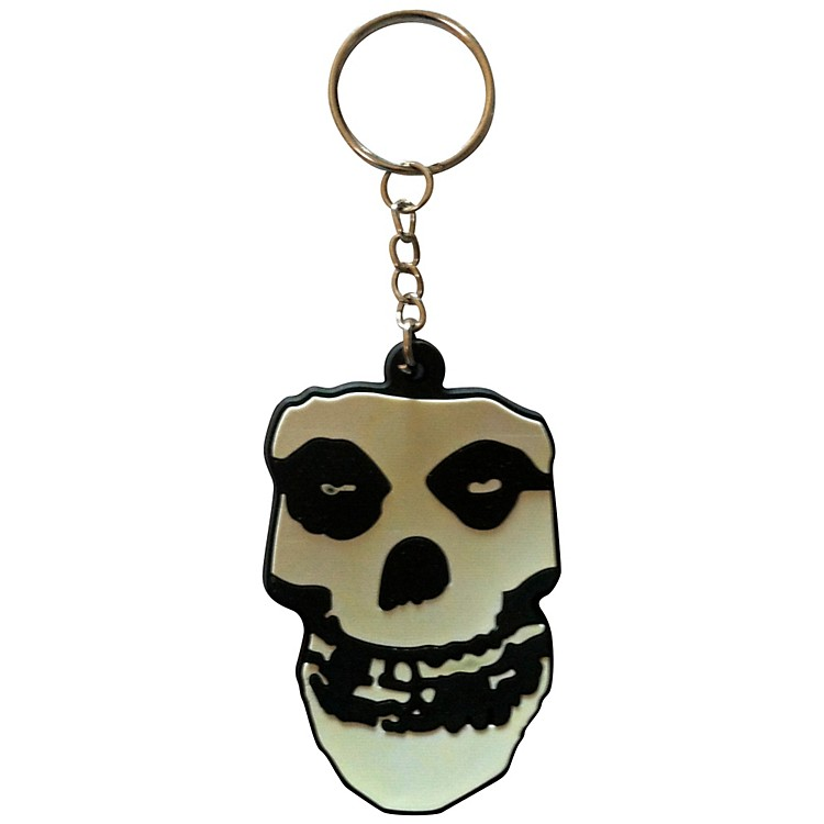 C&D VisionaryMisfits Skull Rubber Key Chain
