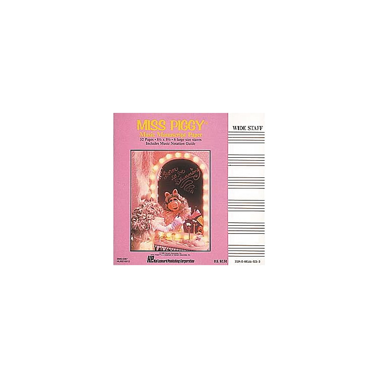 Manuscript Paper Book Hal Leonard Miss Piggy Manuscript Paper Book