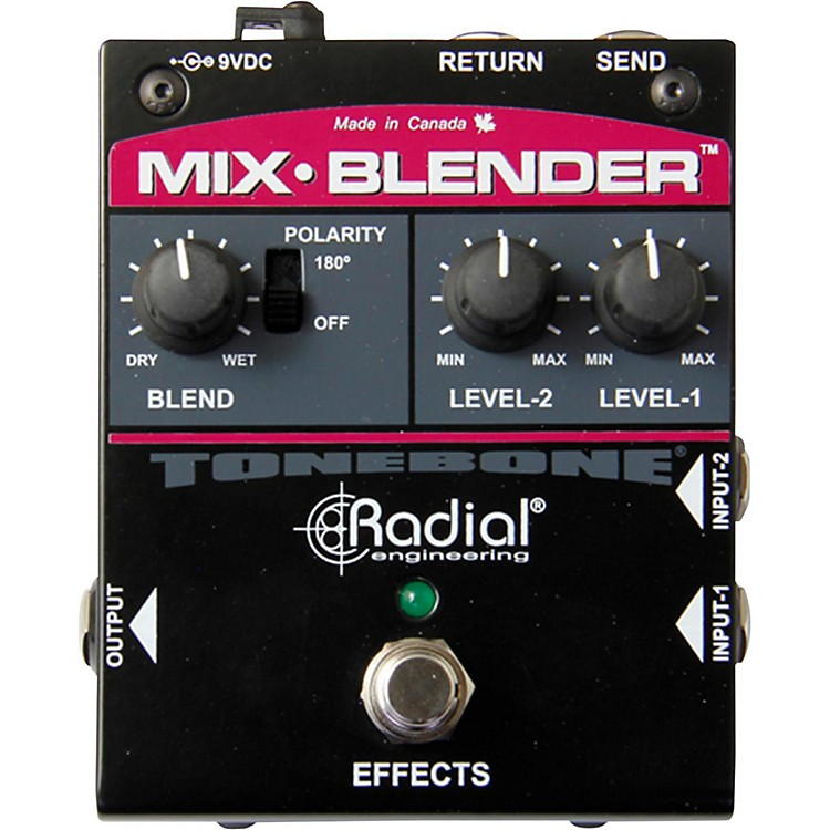 radial engineering mix blender dual input guitar with effect loop pedal music123. Black Bedroom Furniture Sets. Home Design Ideas