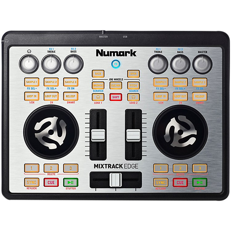 Numark Mixtrack Edge Slimline USB-powered DJ Controller