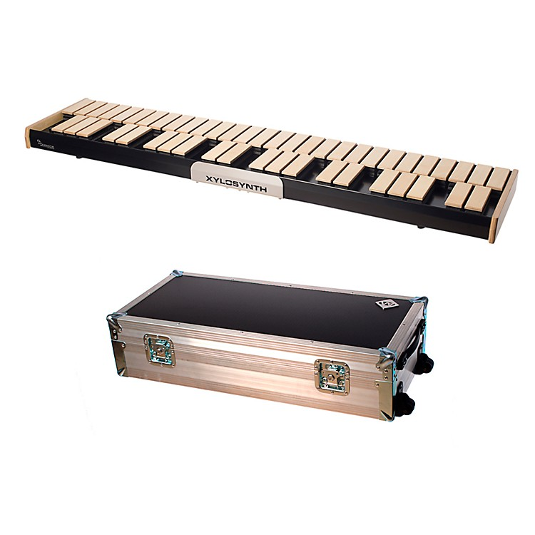 WernickMkVI Blonde Birch Xylosynth w/Button Control, LED Display, Flight Case and Accessories