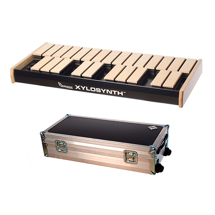 WernickMkVI Blonde Birch Xylosynth w/LED Display, Flight Case and Accessories