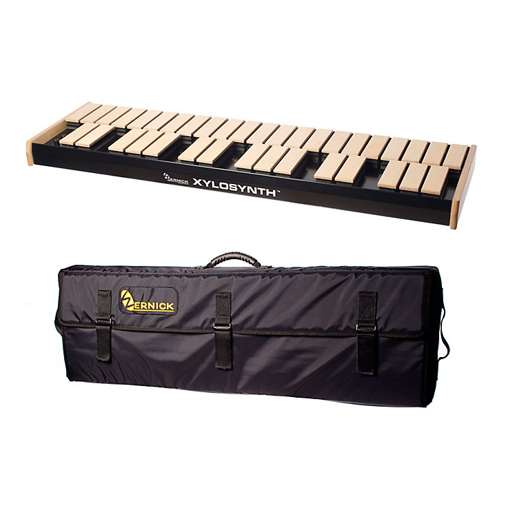 WernickMkVI Blonde Birch Xylosynth w/LED Display and Soft Bag